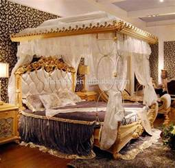 Luxury King Size Canopy Bedroom Sets Luxury Rococo Style Wood Carved Canopy Bed