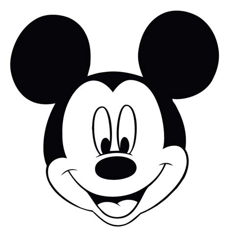 coloring pages of mickey mouse face minnie mouse black face cliparts co