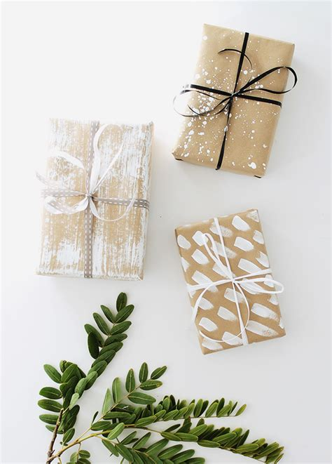 diy gift wrapping ideas four diy gift wrap ideas almost makes
