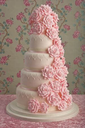 Pink Wedding Cake by Wedding Cakes Pictures Pink Sugar Roses Wedding Cakes