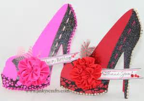 High Heel Shoe Template For Card by Jinky S Crafts Designs High Heel Shoe 3d Cards
