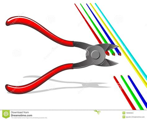 pliers cut off the wires stock vector illustration of