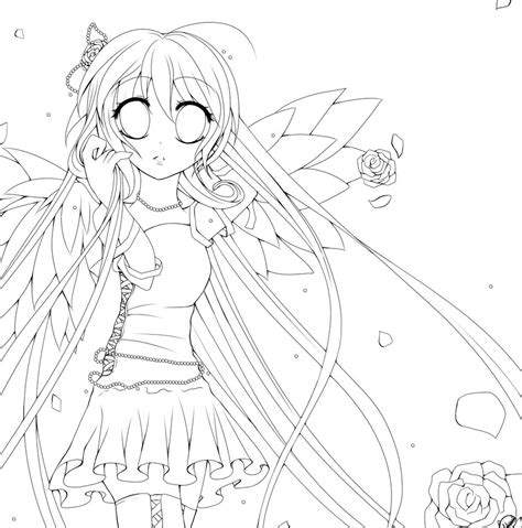 anime angel coloring pages