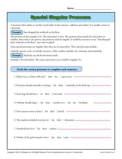 Pronoun Worksheets 6th Grade Free by 6th Grade 187 Pronoun Worksheets 6th Grade Free Printable