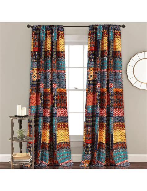 curtains for half moon windows half moon 2 pc misha room darkening curtain set stage