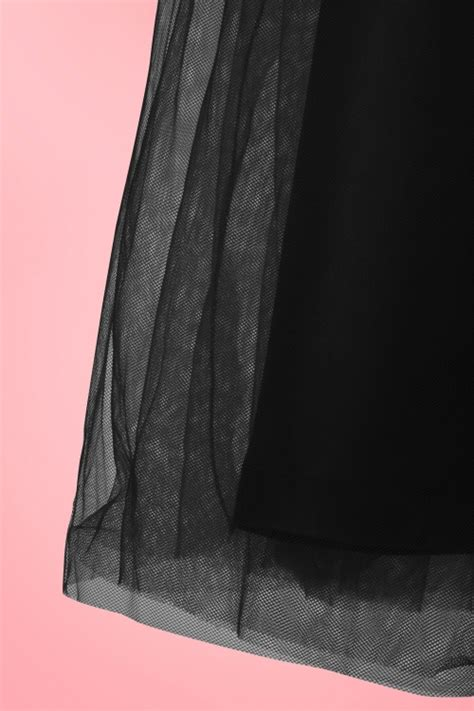 Skirt The Typical Day Swing The Usual Days Pv 0117015 50s edie tulle swing skirt in black