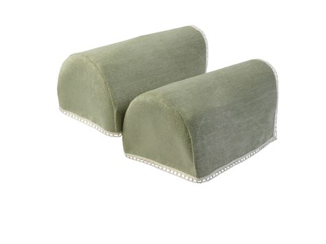 sofa arm protectors uk decorative chenille rounded arm caps pair antimacassar