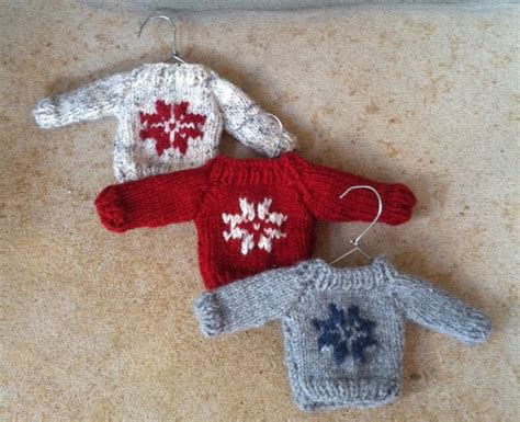 knitting pattern miniature sweater ornament items similar to mini christmas sweater ornament hand knit