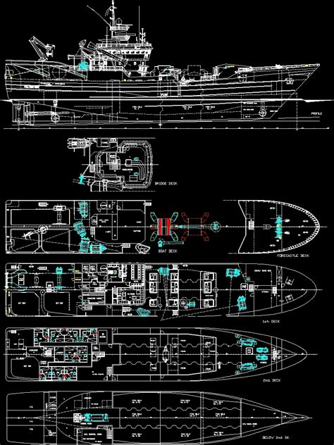 boat plans dwg commercial fishing boat dwg plan for autocad designs cad