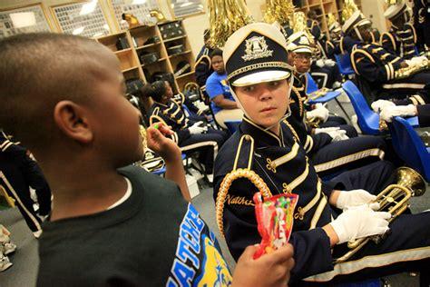 band section leader viewfinder nhs sophomore enjoys band competition
