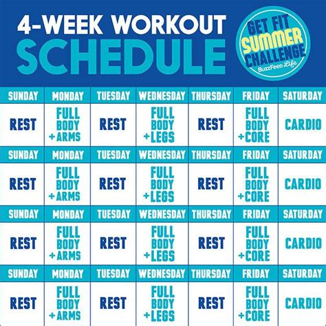 25 best ideas about weekly workout routines on pinterest 25 best ideas about 4 week workout plan on pinterest