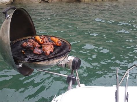 boat rental with grill bbq on a boat questiz fun pinterest boating