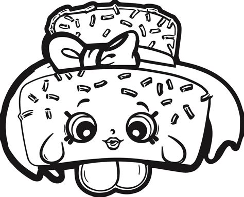 shopkins coloring pages birthday shopkins cake coloring page wecoloringpage