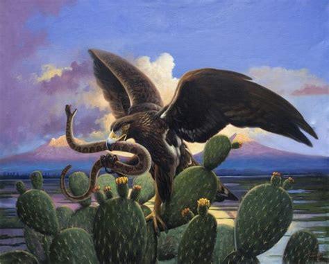 imagenes pinturas extraordinarias aguila nopal escudo mexicano pintor mexicano pintura
