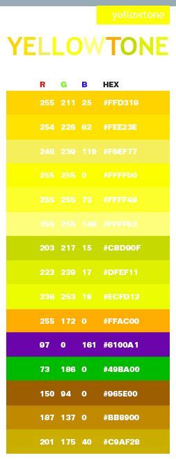 neon yellow color code 25 best ideas about yellow color schemes on
