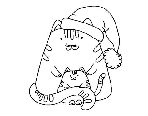 coloring pages christmas kittens christmas kittens coloring page coloringcrew com