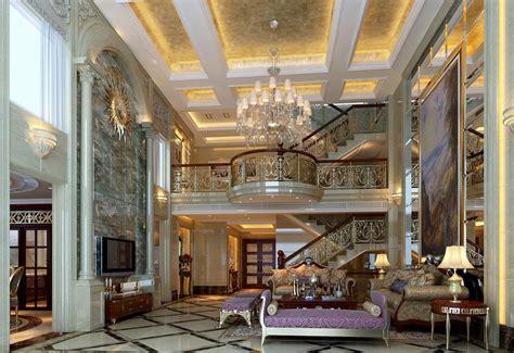 Luxury european villa interior decoration view
