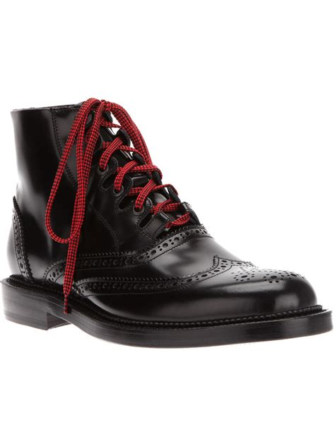 brogue boots for dsquared2 brogue boot in black for lyst