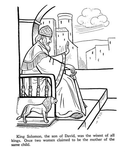 Coloring Pages King Solomon | 104 best bible coloring pages images on pinterest