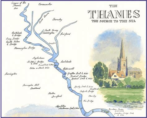 thames river usa map 187 river thames path map by william thomas