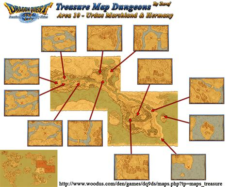 all the important locations throughout the quest dragon quest ix sentinels of the starry skies treasure