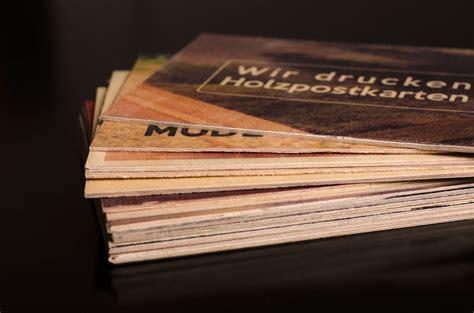 Individuelle Postkarten Drucken by Individuelle Postkarten Aus Holz Druck Auf Holz