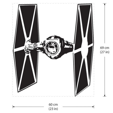 Star Wars Wandaufkleber by Star Wars Tie Fighter Wandaufkleber Wandtattoo