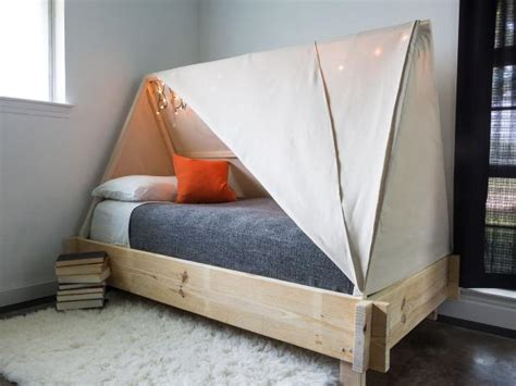 tent bed how to build a tent bed hgtv