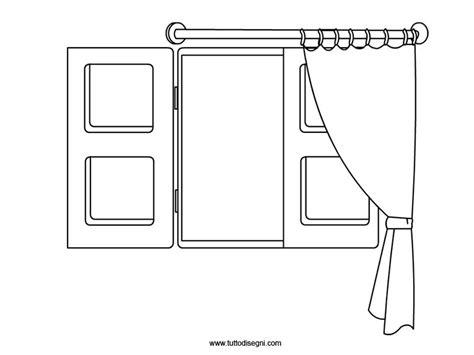 disegni per tende finestra con tenda da colorare tuttodisegni