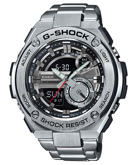 Jam Casio G Shock Gst 210 Hitam Model Terbaru gst 210 5475 g shock wiki casio information