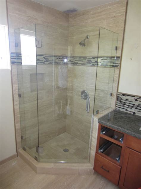 Neo Shower Door Neo Angle Shower Enclosure Hillcrest Patriot Glass And Mirror San Diego Ca