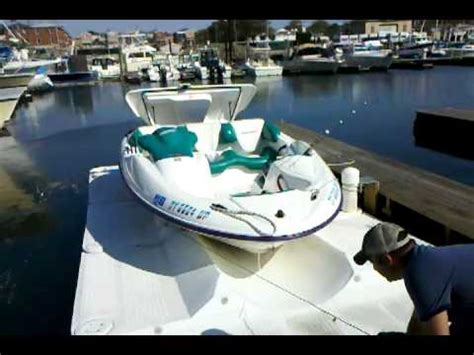 boat dock pulley system jet boat launch from floating dock youtube