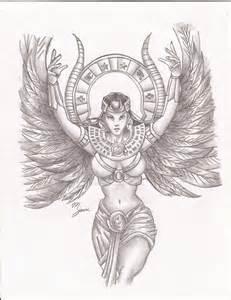 goddess isis by elliotpoison on deviantart