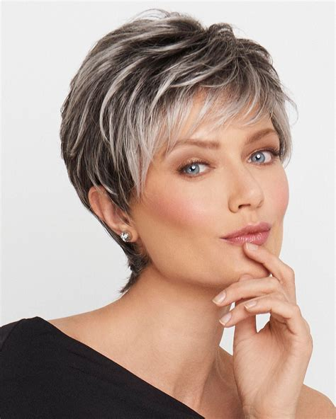 frosted hair short hair bobs raquel welch wigs crushing on casual save 20 code