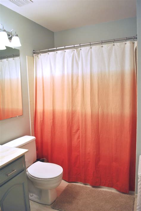 shower curtains with red in them trendy ombre curtains in cold warm and neutral hues