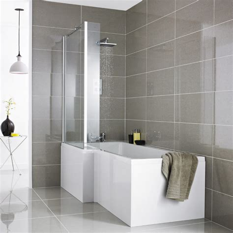 Bathroom Cool Small Bathroom With L Shaped Bath Ideas Bathroom Shower And Tub Ideas