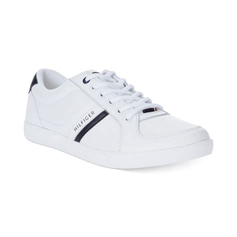 white hilfiger shoes hilfiger thorne sneakers in white for lyst