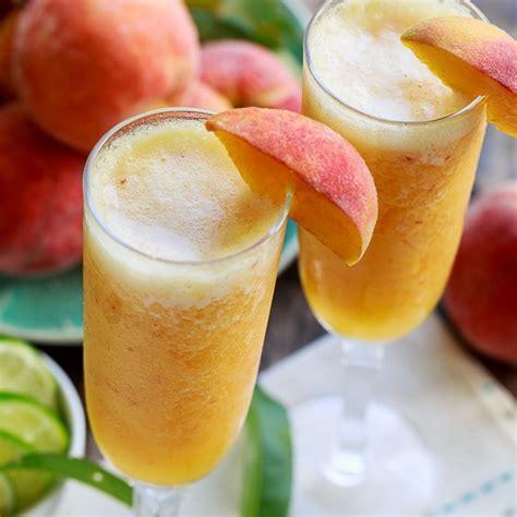 frozen peach bellini mocktail spicy southern kitchen