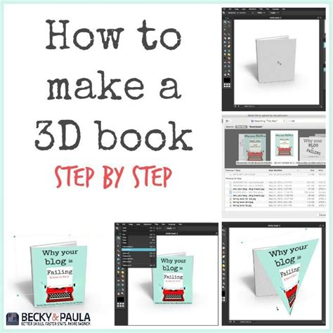 make a picture book how to make a 3d book cover image free blogger2business