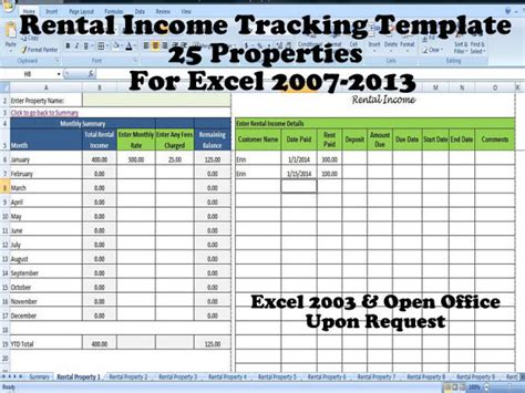 rental property income statement template tenant payment record rental payment record template 25
