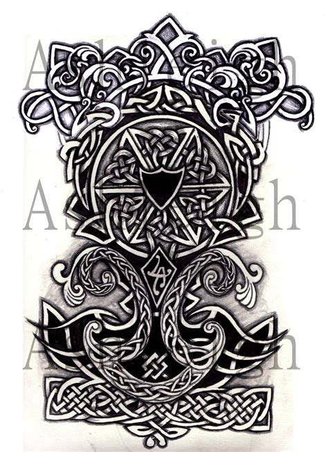 celtic nordic half sleeve by tattoosbyashleigh on deviantart
