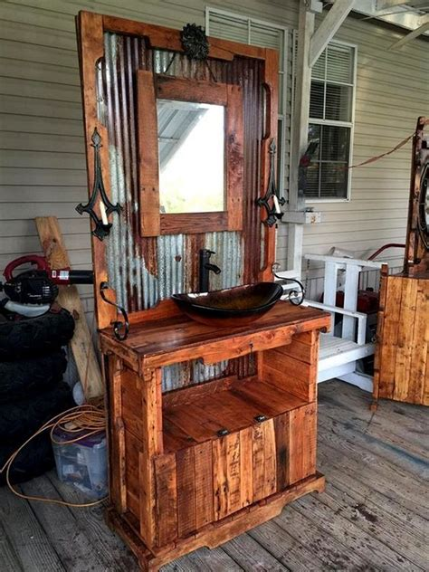 pallet bathroom vanity incredibly easy handmade pallet wood projects you can diy