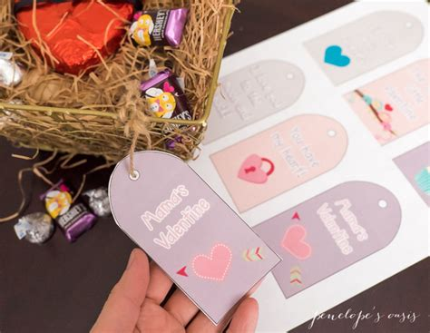 printable gift basket tags a message of love for your sweet little valentines free
