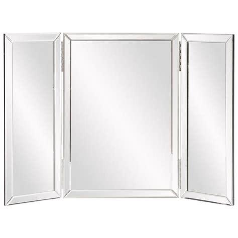 tri fold mirrors bathroom amazon com howard elliott 99003 tripoli trifold vanity