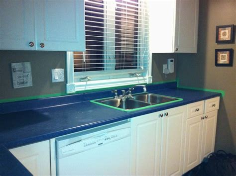 blue countertop blue butterfly renew painting laminate countertops