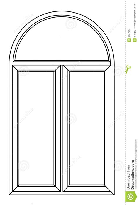 card stock window templates contour arch window stock illustration illustration of