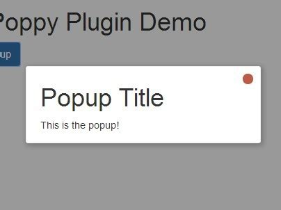 jquery popup div minimal jquery fading modal popup plugin poppy free