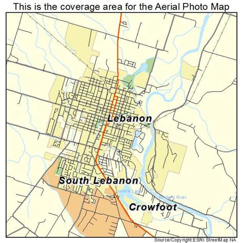 map of oregon lebanon aerial photography map of lebanon or oregon