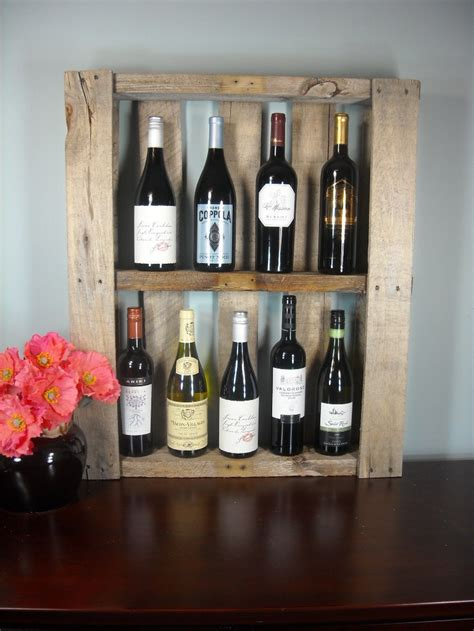 Wine Shelf by Reclaimed Pallet Wine Shelf Photo Shelf Rustic Wine Rack