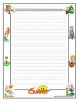 summer writing paper template themed writing paper page 3 of 12 teaching
